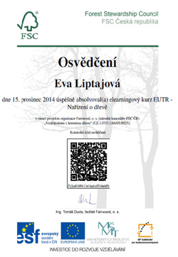 Osvědčení E. Liptajová EUTR nařízení o dřevě.jpg