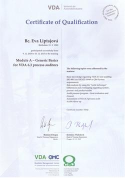 VDA 6.3 modul A