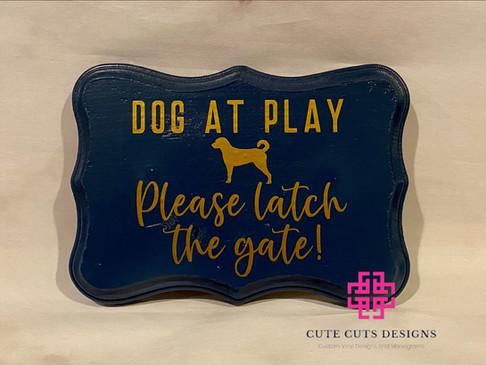 Dog at Play wood sign.JPG