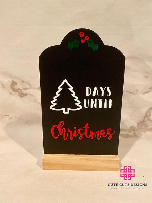 Countdown to Christmas Chalkboard