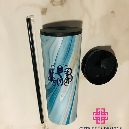 Marbleized Hot/Cold Tumblers; Travel Coffee Cups