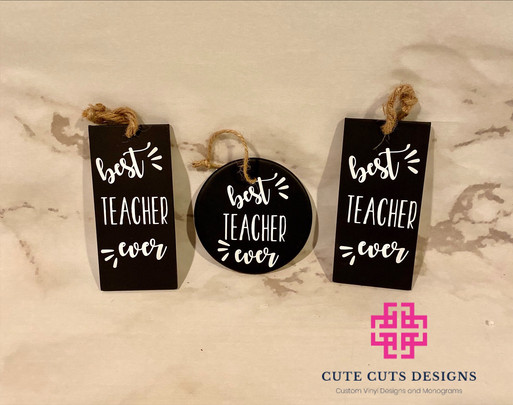 Best Teacher Ever Ornaments.JPG