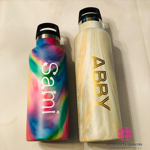 Marbleized Wide Mouth Water Bottles