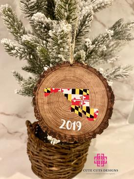 Wood Slice Ornament Maryland.JPG