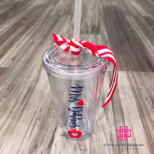 Clear Acrylic Tumblers with Straws