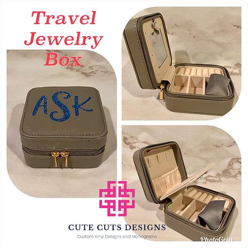 Travel Jewelry Box with Mirror
