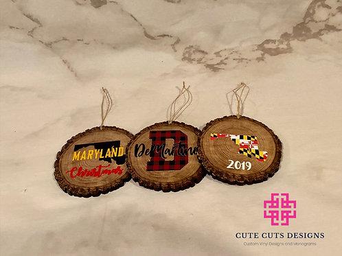 Custom Wood Slice Ornament