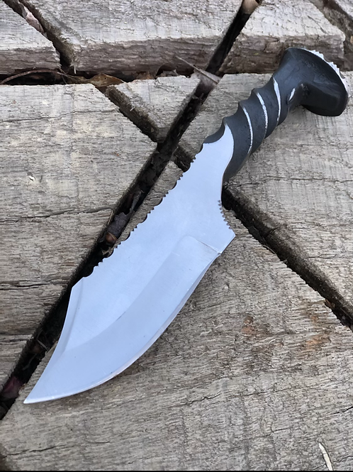Clip Point Spike Knife with File Work