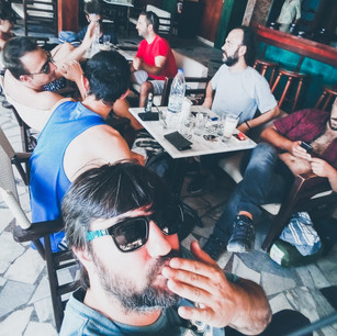 Morning Coffee at Sougia after Fortuna Club live