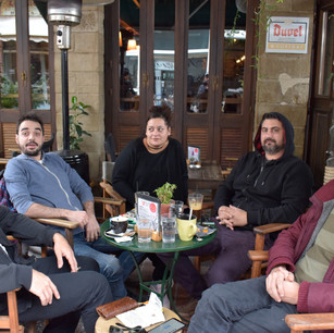 Coffee time at Trikala with friends