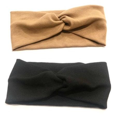 Bandeau côtelé Noir ou Beige