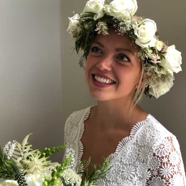 Flower crowns are popular for young brides