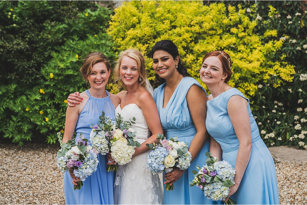 Pastel colours and Hydrangeas where the focus for this English country wedding in Surrey