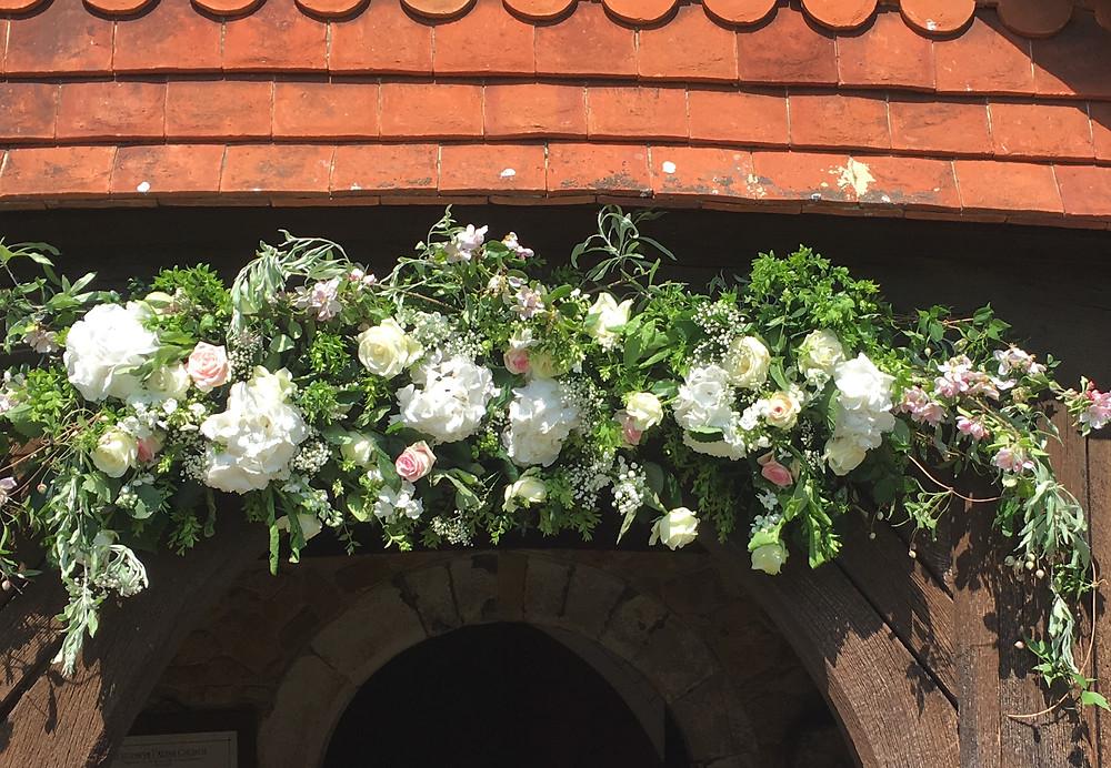 Wedding venue flowers by Francesca Sharp Flowers