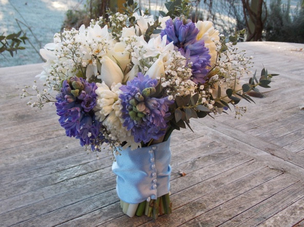 Bouquet by Francesca Sharp Flowers, a Hampshire wedding florist at Old Thorns, Liphook