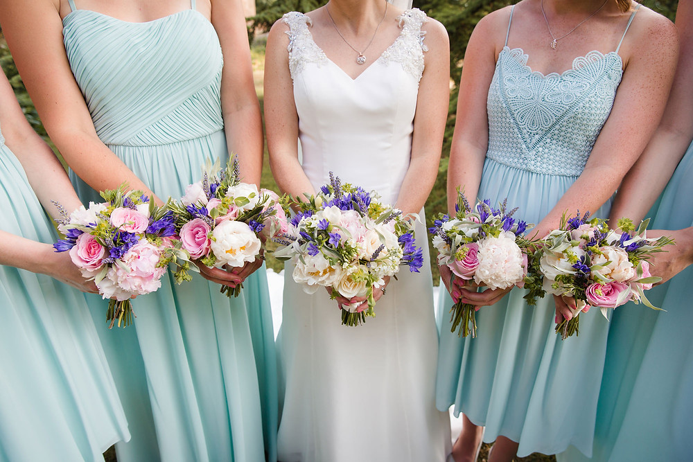 Wedding flowers, brides and bridesmaids bouquets by Francesca Sharp Flowers
