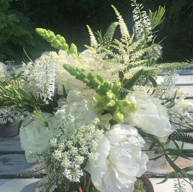 Flowers, foliage and succulents for wedding flowers
