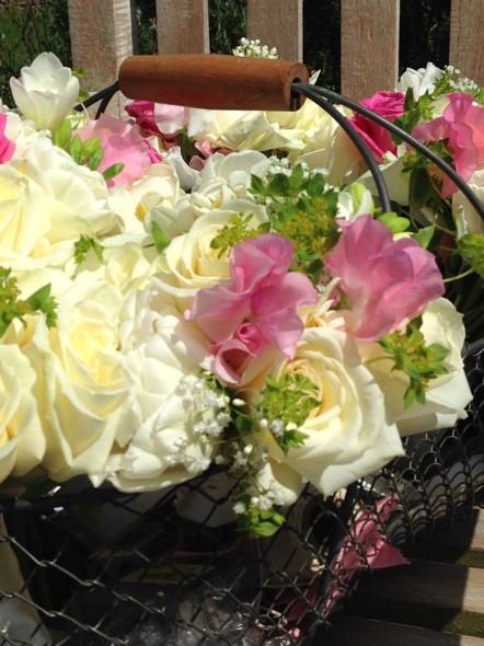 Spring wedding arrangements designed by Francesca Sharp Flowers a Hampshire wedding florist