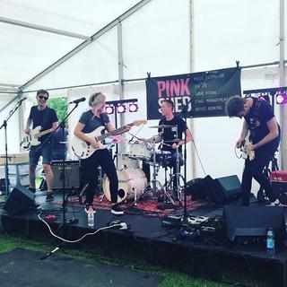 Pink Shed Stage! Amazing music #kelvedon