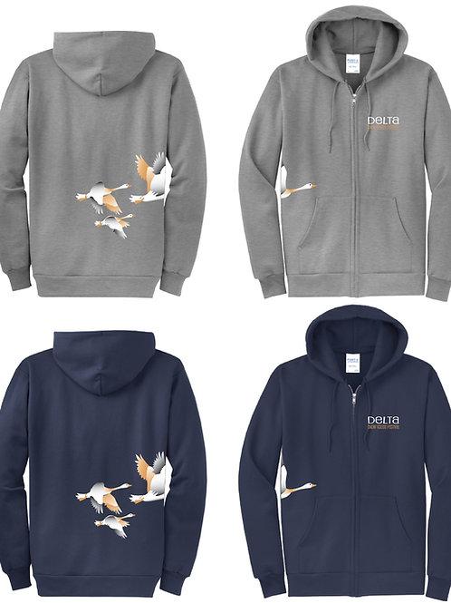 Snow Goose Zip-up Hoodie