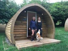 BBC TV presenter Kate Humble visits Caplor Glamping & Lodges