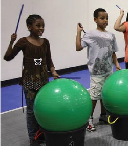 using Bucket Drums and Balls SMALLER
