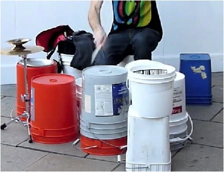 Using Bucket Drums