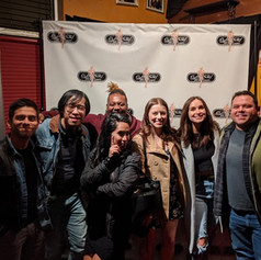 Jennings and friends at Flappers Comedy Club in Burbank post show