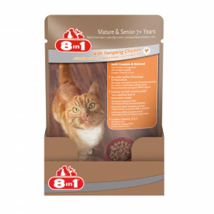 מזון רטוב (פאוץ') מלא ומאוזן לחתולים מבוגרים עם בשר עוף