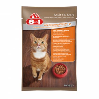מזון רטוב (פאוץ') מלא ומאוזן לחתולים בוגרים עם בשר עוף
