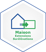 Logo Maison Extensions - Surélévations