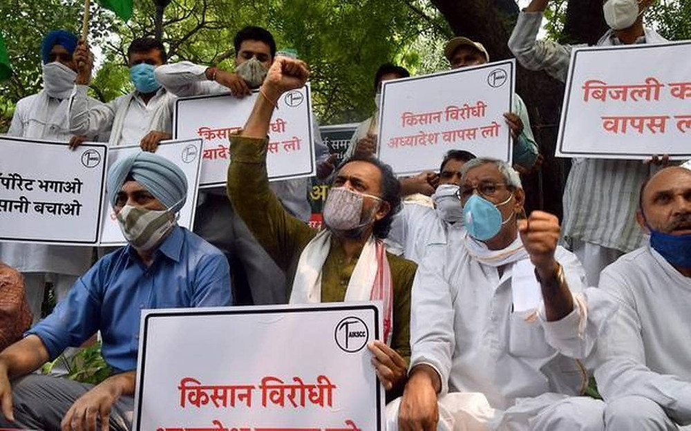 Farmers and Farmers' body from Punjab and Haryana have taken to streets to oppose the farm bills/ordinances introduced by the Union government in Lok Sabha