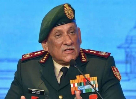 '700% growth in Defence exports in the last 3 years' General Bipin Rawat