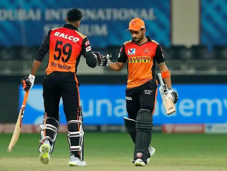 IPL 2020, RR vs SRH: Manish Pandey blasts off SRH to victory against RR by 8 wickets