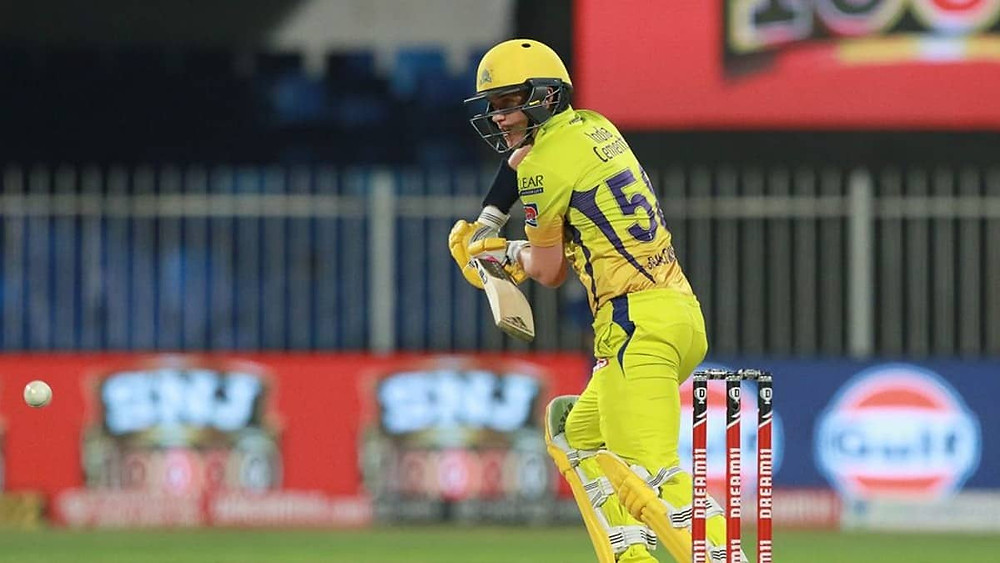 Skipper Kieron Pollard won the toss and elected to field first. Chennai Super Kings had one of its worst starts tonight with a sudden collapse of its batting line-up. While Ruturaj Gaikwad lost his wicket at 0 runs, Faf du Plessis only made a single run tonight. The next 2 batsmen in line, Ambati Rayudu and Narayan Jagadeesan also lost their wickets after making 2 and 0 runs respectively. Skipper MS Dhoni and Ravindra Jadeja came to the crease to save the sinking ship of CSK tonight. While Dhoni made 16 runs off 16 balls, Jadeja lost his wicket after making just 7 runs off 6 balls tonight. Sam Curran remained the solo match performer for the CSK tonight with his brilliant knock of 52 runs off 47 balls. Deepak Chahar lost his wicket without making a single run tonight. With Shardul Thakur and Imran Tahir's slow partnership, CSK gave a super low target of 115 runs for the MI to chase in Sharjah Cricket Stadium tonight. MI bowlers dominated the batting line-up of CSK tonight with their destructive spells. Trent Boult impressed everyone with his destructive bowling as he grabbed 4 huge wickets tonight while also being the most economical bowler in his spell of 4 overs. Jasprit Bumrah and Rahul Chahar also remained successful in taking 2 wickets each tonight.