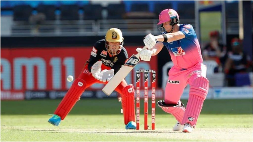 Skipper Steven Smith won the toss and elected to bat first, allowing the partnership of openers Robin Uthappa and Ben Stokes to start. While Uthappa played aggressively from the start itself and made 41 runs off 22 balls, the Stokes failed to impress today with the bat as he lost his wicket after making 15 runs off 19 balls. Youngster Sanju Samson also failed today as he lost his wicket in the early after making 9 runs off 6 balls. Skipper Steven Smith shined for the RR today as his brilliant knock of 57 runs off 36 balls, aided by Joss Buttler's 24 runs knock, and Rahul Tewatia's last-minute undefeated knock of 19 runs off 11 balls, helped RR to give a respectable target of 178 runs for the RCB to chase today. Chris Morris remained the best bowling pick for the RCB today, with him grabbing 4 crucial wickets today while also being the most economical bowler of the lot. Yuzvendra Chahal also grabbed 2 wickets in his spell of 4 overs for the RCB today.
