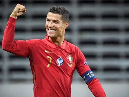 Cristiano Ronaldo second men's player to score more than 100 international goals