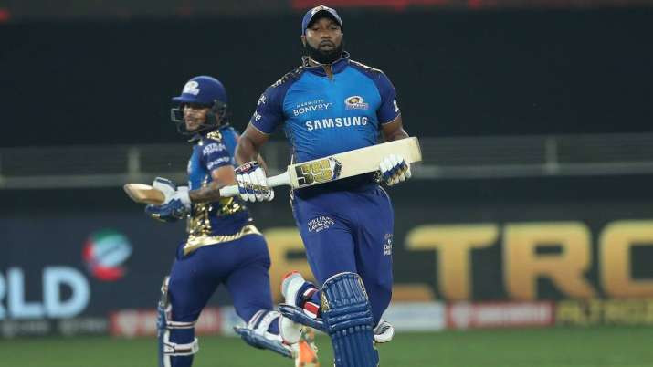 KL Rahul won the toss and elected to field first, allowing Skipper Rohit Sharma's brilliant innings to start along with opener Quinton de Kock. However, Quinton de Kock lost his wicket without making any runs tonight. Rohit Sharma played explosive innings and made 70 runs off 45 balls. Suryakumar Yadav lost his wicket in runout and made only 10 runs. After the fall of Yadav's wicket, last match's super striker Ishan Kishan came to the crease but played slow innings of 28 runs off 32 balls. When Keiron Pollard came to the crease, he played fiery innings of 47 runs off 20 balls, aided by four 6s and three 4s. Hardik Pandya also supported the Pollard in the final overs as he made quick 30 runs off 11 balls. Sheldon Cottrell remained the most economical bowler in his spell against Mumbai Indians tonight while also taking a wicket. Mohammed Shami also remained successful in grabbing a wicket in tonight's match.