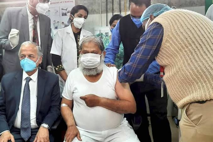 Haryana Cabinet Minister, who had been administered a dose of Bharat Biotech's COVID-19 vaccine 'COVAXIN' on November 20, took to his Twitter handle to announce that he has tested positive for the highly contagious virus.