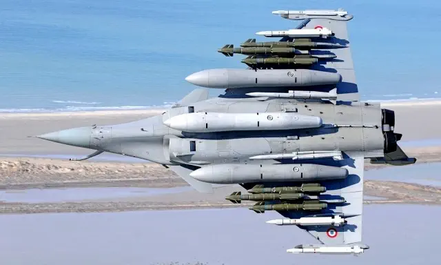 Dassault Aviation Rafale fighter aircraft weapons package including HAMMER, SCALP and METEOR Missile.