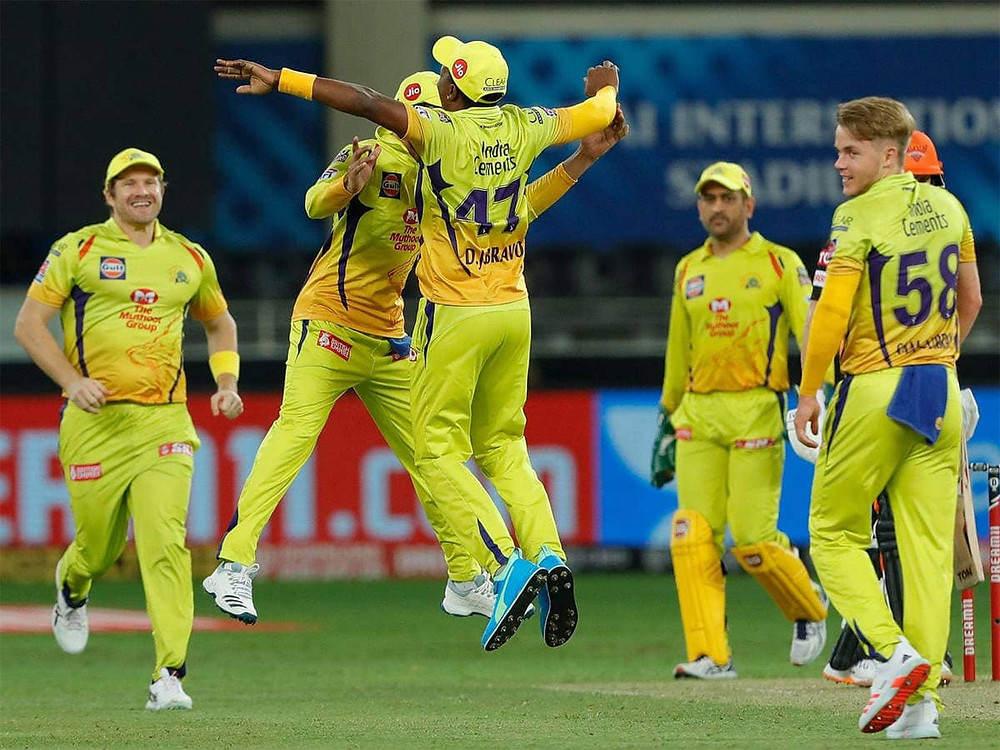 n the 29th match of the Indian Premier League (IPL) 2020, Chennai Super Kings (CSK) beat Sunrisers Hyderabad (SRH) by 20 runs at Dubai International Cricket Stadium. Aided by Shane Watson and Ambati Rayudu's impressive partnership, CSK gave a decent target of 168 runs for the SRH to chase tonight. With the win tonight, CSK has now broken their losing streak in the 13th edition of IPL. Chennai Super Kings now stands at the 6th position in the points table of IPL 2020. Karn Sharma and DJ Bravo shined for the CSK with their aggressive bowling tonight. Kane Williamson impressed everyone tonight with his explosive innings of 57 runs off 39 balls for the SRH.