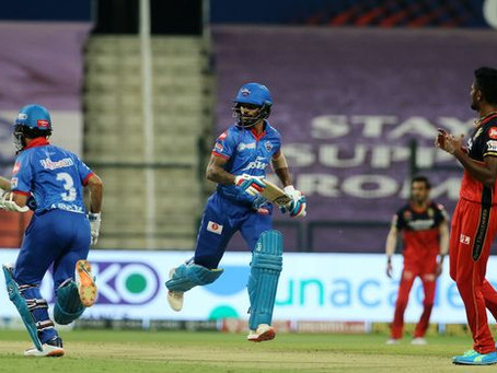 IPL 2020, DC vs RCB: Shikhar Dhawan & Ajinkya Rahane powers DC to victory against RCB by 6 wickets