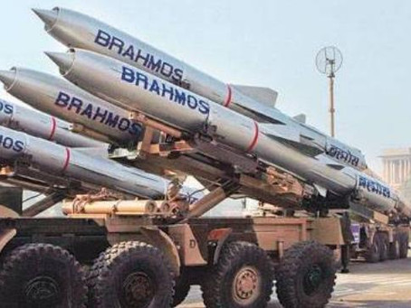 BRAHMOS Missile feat. indigenous booster successfully flight-tested with an extended range of 400 KM