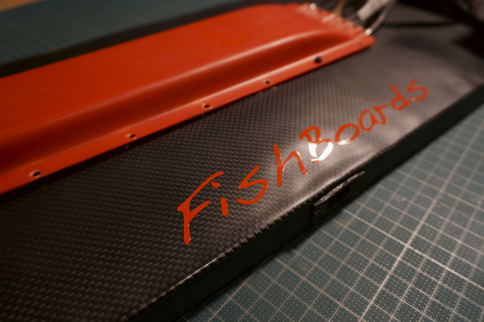 My fishboards logo on the board