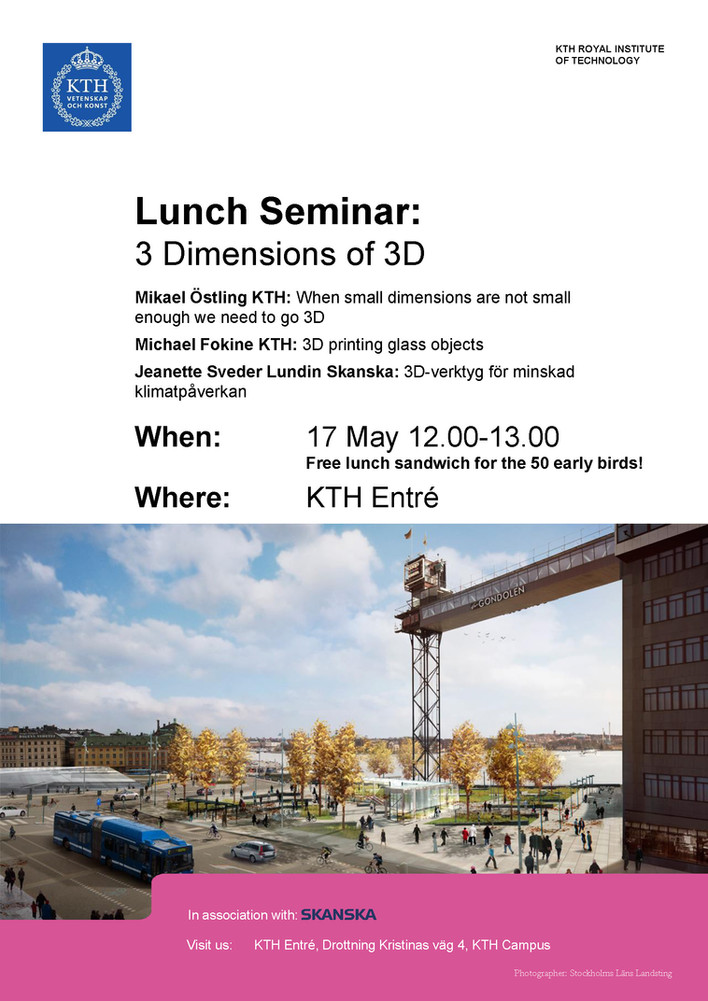 3 Dimensions of 3D - Lunch Seminar