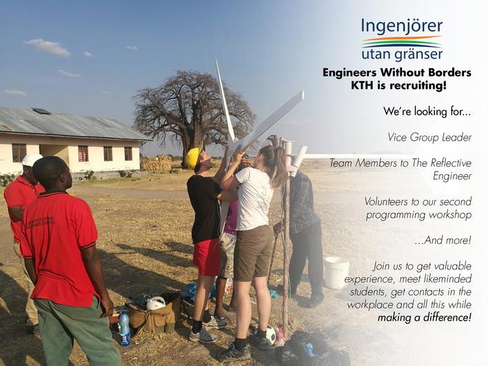 Ingenjörer Utan Gränser (EWB) rekryterar!