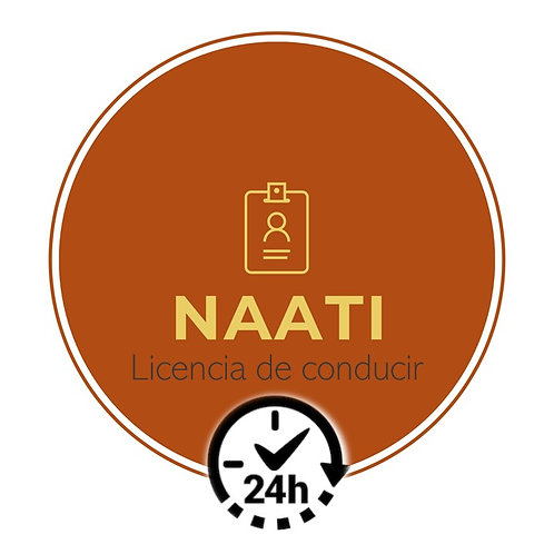 NAATI / LICENCIA DE CONDUCIR (24 horas)