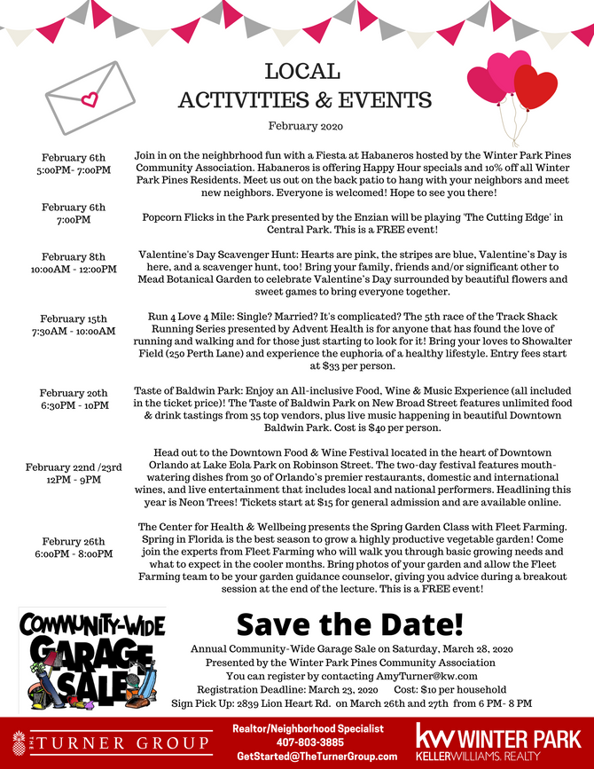 February Local Events!