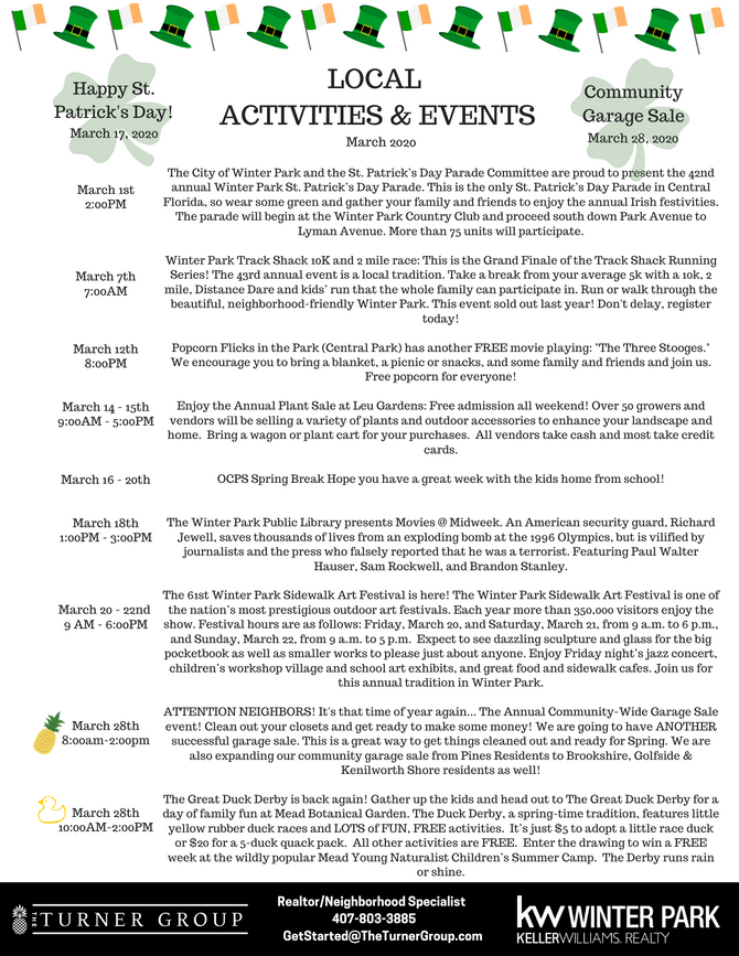March Events!