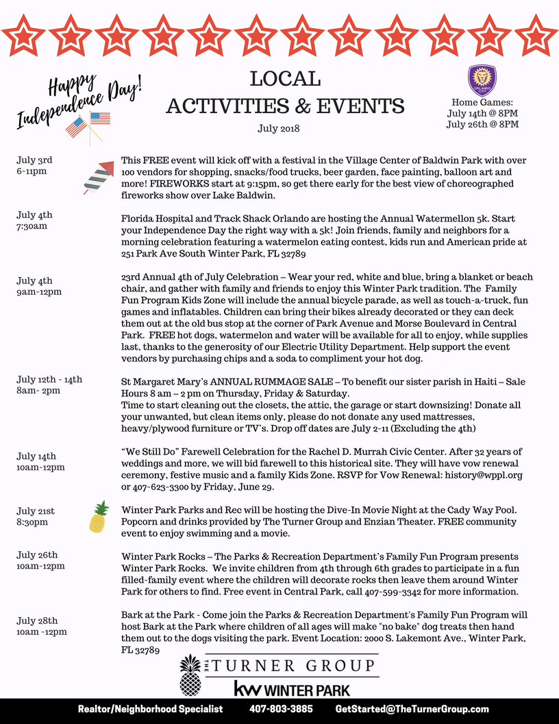 July 2018 Events
